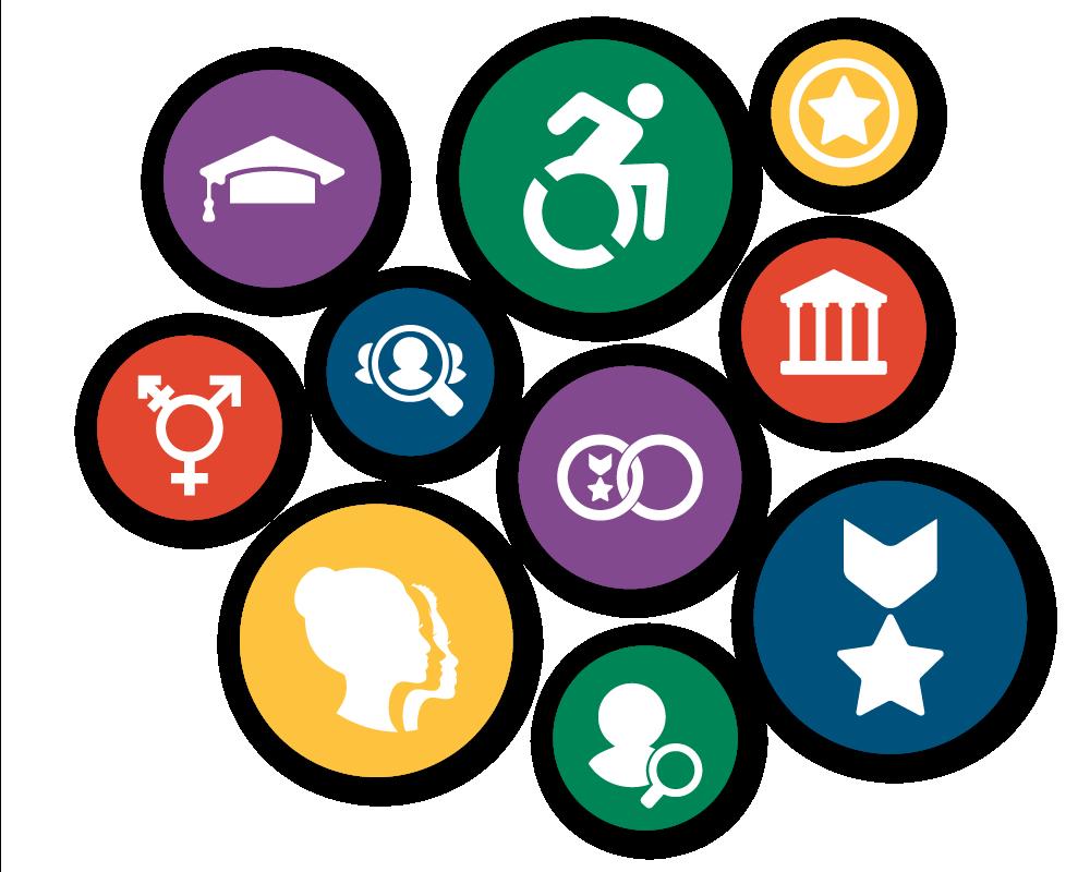 Symbols of diversity segments